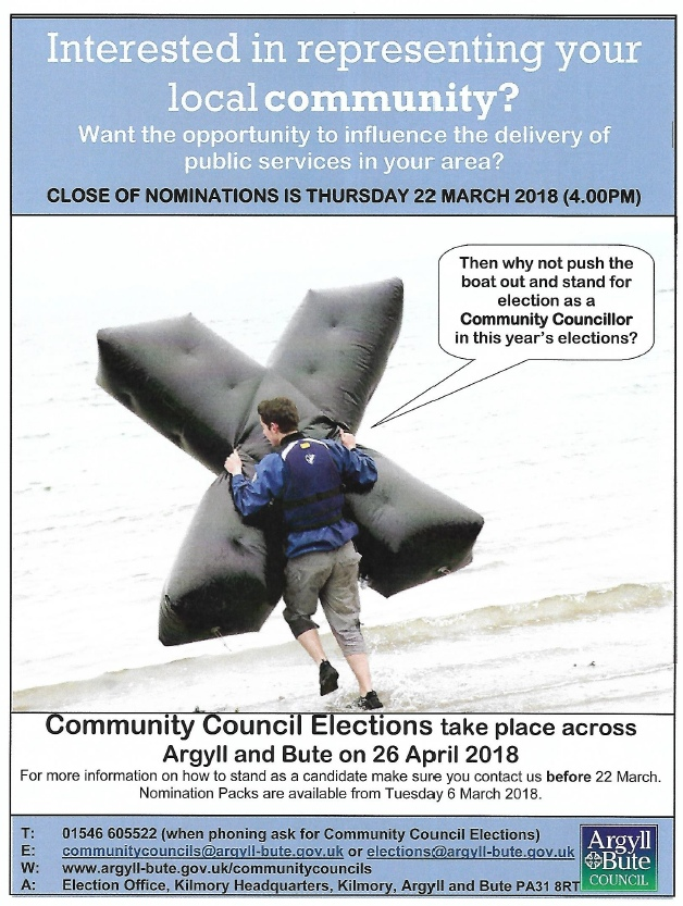 Seil and Easdale Community Council Elections 2018